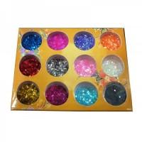 Sclipici Hexagon pentru Unghii - Set 12pcs